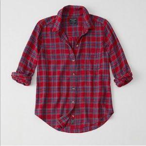 NWOT Abercrombie Plaid Flannel Shirt